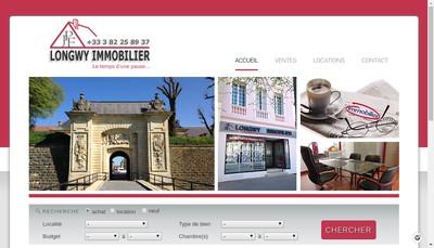 Site internet de Longwy Immobilier