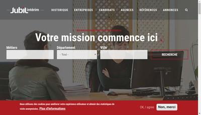 Site internet de Jubil Interim Nimes