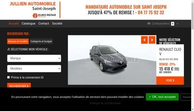 Site internet de Jullien Automobile