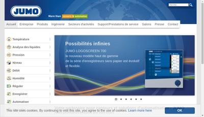 Site internet de Jumo Regulation