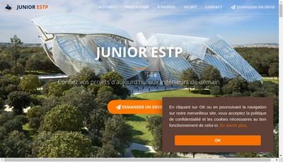 Site internet de Junior Estp