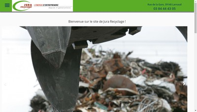 Site internet de Jura Recyclage