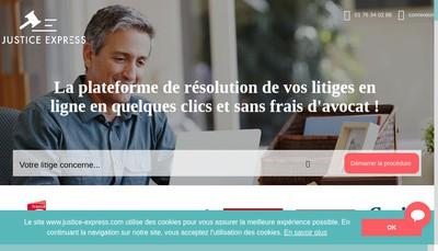 Site internet de Justice Express