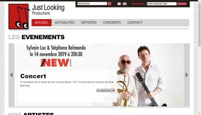 Site internet de Just Looking