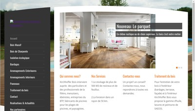 Site internet de Kirchhoffer Bois