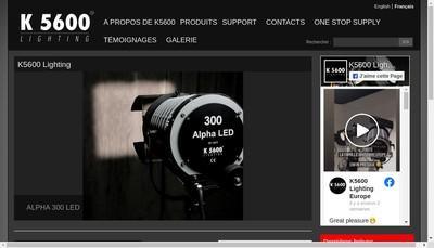 Site internet de K 5600 Lighting