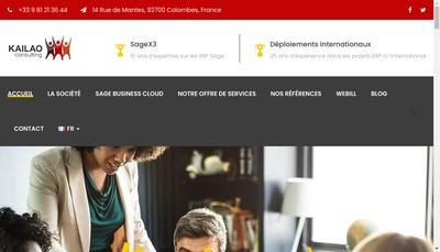 Site internet de Kailao Consulting