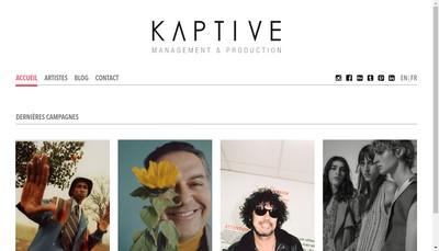 Site internet de Kaptive