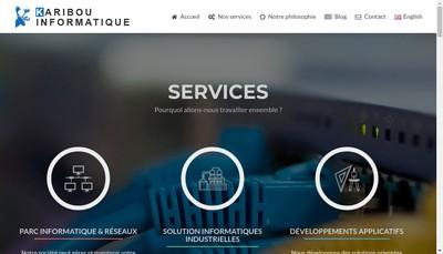 Site internet de Karibou Informatique