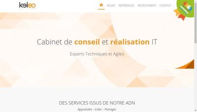 Site internet de Keleo Solutions