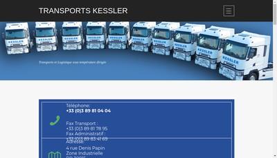 Site internet de Transports Kessler SA