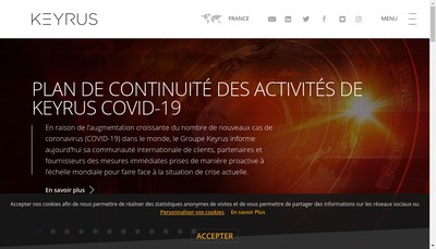 Site internet de Keyrus Management