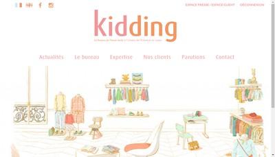 Site internet de Kidding Presse