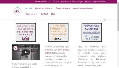 Site internet de Kitchen On Demand