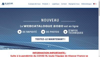 Site internet de Klaxcar France