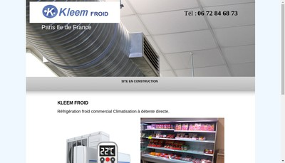 Site internet de Kleem Froid