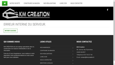 Site internet de Km Creation