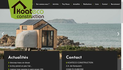 Site internet de Koateco Construction