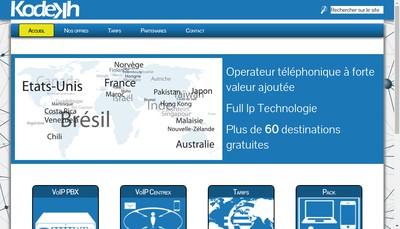 Site internet de Kodekh Telecom
