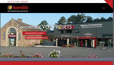 Site internet de Espace Fermetures