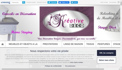 Site internet de Kreative Deco