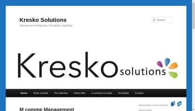 Site internet de Kresko Solutions