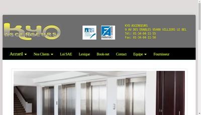 Site internet de Kyo Ascenseurs