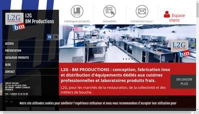 Site internet de La Generale de Gastronomie, Reminox, Bm Production