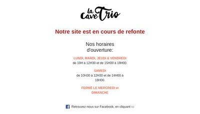 Site internet de La Cave Trio