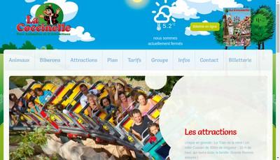 Site internet de Parc Animalier de la Coccinelle