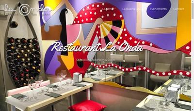 Site internet de La Onda Restaurant Tapas Degustatio