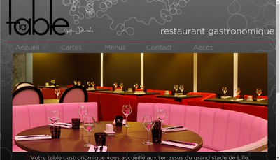 Site internet de La Table