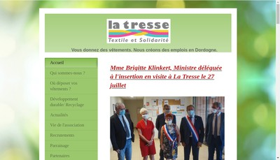 Site internet de La Tresse