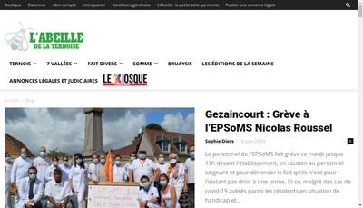 Site internet de L'Abeille de la Ternoise Communication