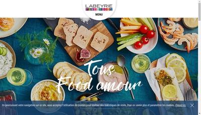 Site internet de Labeyrie Fine Foods