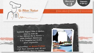 Site internet de La Biliais Traiteur