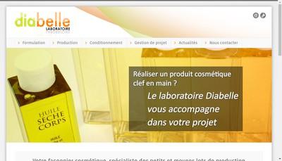 Site internet de Laboratoire Diabelle
