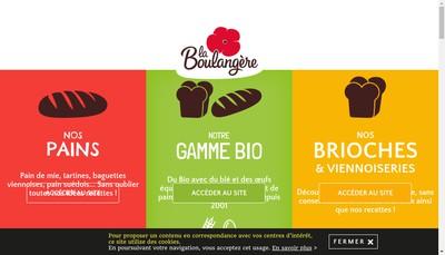 Site internet de La Boulangere