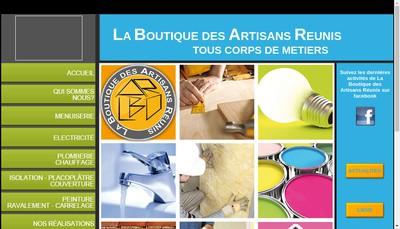 Site internet de La Boutique des Artisans Reunis