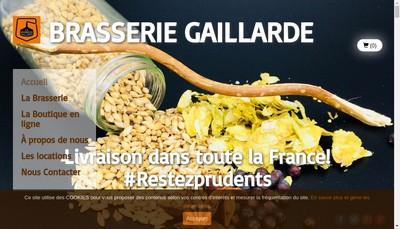Site internet de La Brasserie Gaillarde