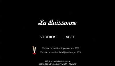 Site internet de La Buissonne