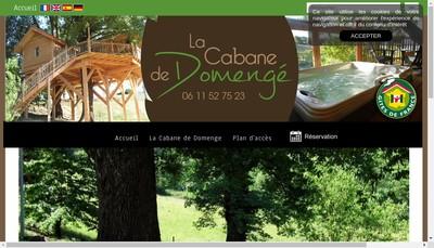 Site internet de La Cabane de Domenge