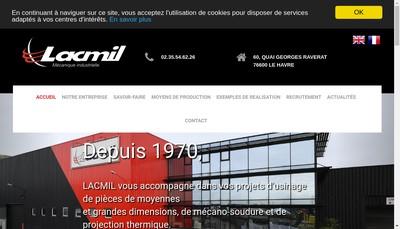 Site internet de Lacmil