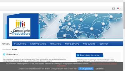 Site internet de La Compagnie des Formateurs