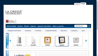 Site internet de La Crosse Technology