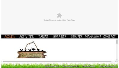 Site internet de La Ferme Souchinet les Cabanes de Souchinet