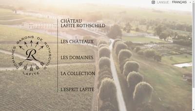 Site internet de Chateau Lafite Rothschild
