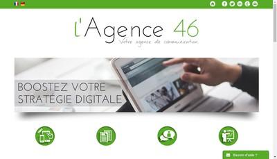Site internet de L'Agence 46