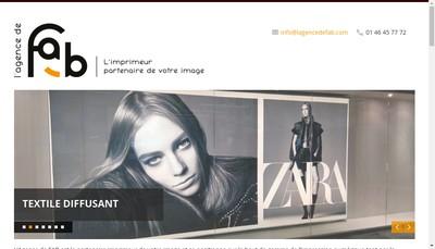 Site internet de L'Agence de Fab