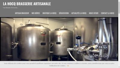 Site internet de La Hocq Brasserie Artisanale